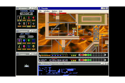 Thexder: For Windows 95... played on a Pentium 166mhz with ...