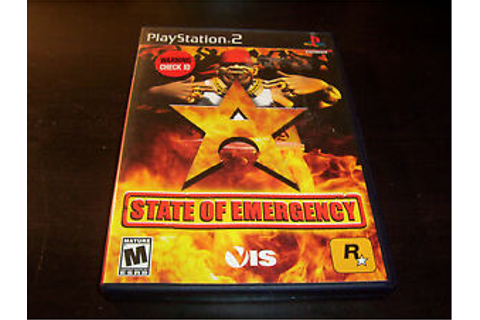 STATE OF EMERGENCY ROCKSTAR GAMES SONY PLAYSTATION 2 PS2 ...