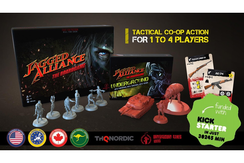 Jagged Alliance - The Board Game by Underground Games ...