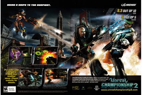 "Video Game Print Ads — ""Unreal Championship 2: The Liandri ..."