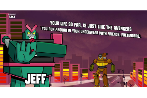 The Jackbox Party Pack 5's Mad Verse City is about robot ...