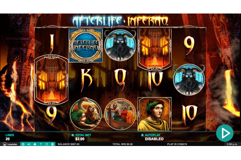 Afterlife Inferno slot from Leander Games play online free