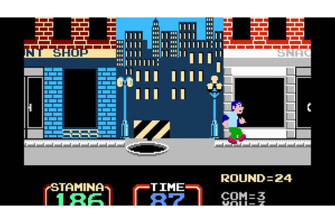 NES Game: Urban Champion (1984 Nintendo) - YouTube