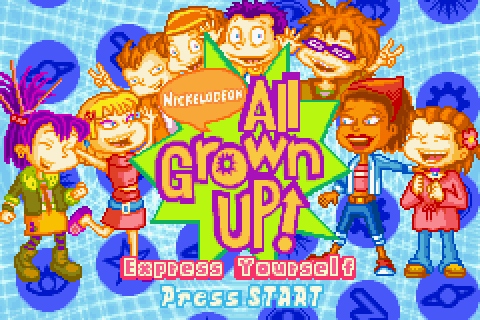 All Grown Up! Express Yourself (2004) by Altron GBA game