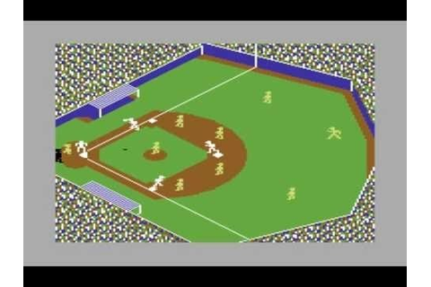 Star League Baseball - Commodore 64 - YouTube