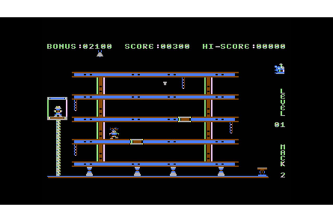 Hard Hat Mack for the Atari 8-bit family - YouTube