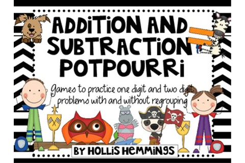 Addition and Subtraction Potpourri: Games for one and two ...