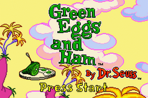 Play Green Eggs and Ham by Dr. Seuss Nintendo Game Boy ...