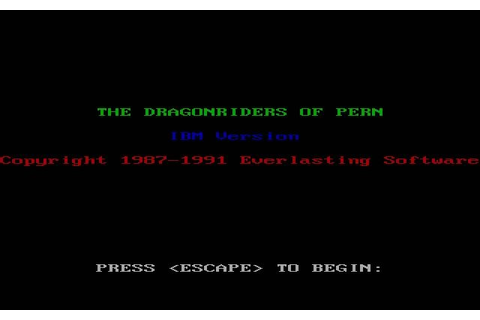 Download Dragonriders of Pern strategy for DOS (1987 ...