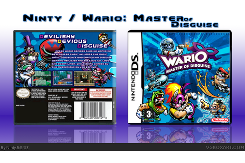 Wario : Master of Disguise Nintendo DS Box Art Cover by Ninty