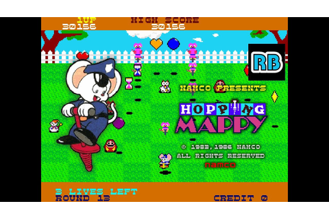 1986 [60fps] Hopping Mappy 70615pts ALL - YouTube