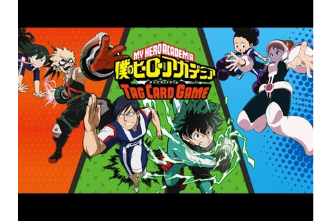 My Hero Academia! Tag Card Game TCG. SET 2 UNBOXING! GET ...
