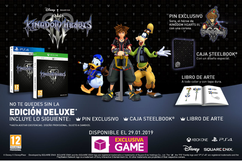 Edición deluxe de Kingdom Hearts 3, disponible solo en ...
