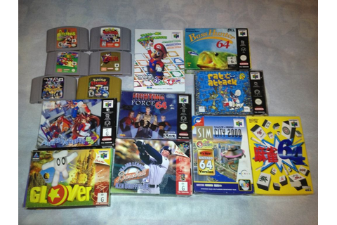 NA » FS/FT: bunch of PAL and JPN N64 games/boxes/manuals
