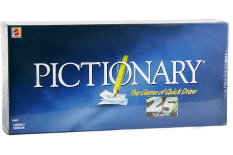 Mattel Games Pictionary-The Game of Quick draw Board Game ...
