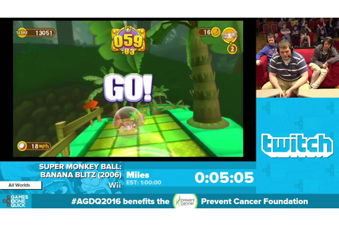Super Monkey Ball: Banana Blitz by Miles in 52:10 ...