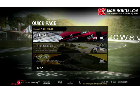 Simraceway Racing Game First Look by RaceSimCentral - YouTube