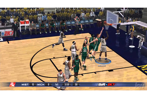 College Hoops 2K7 PlayStation 3 Gameplay - Michigan Vs ...
