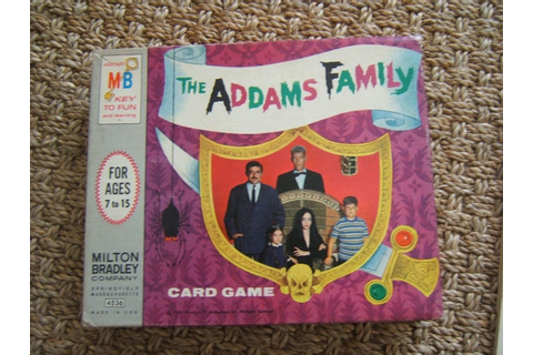 Rare Addams Family Card Game 1965 Vintage 39 Cards