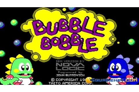 Bubble Bobble gameplay (PC Game, 1987) - YouTube