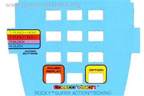 Rocky Super Action Boxing - Coleco Vision - Games Database