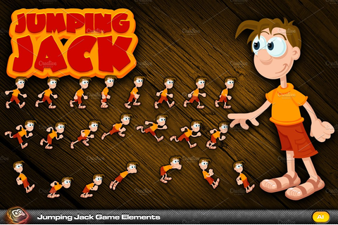 Jumping Jack Game Elements ~ Graphic Objects ~ Creative Market