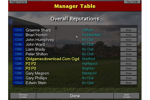 Championship Manager 96/97 on Qwant Games
