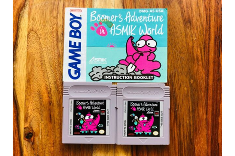 Boomer's Adventure in Asmik World (Nintendo Game Boy, 1989 ...