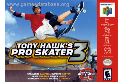 Tony Hawk's Pro Skater 3 - Nintendo N64 - Games Database