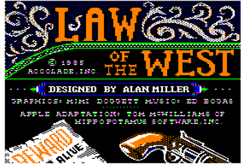 Law of the West (1985) by Accolade Apple II E game