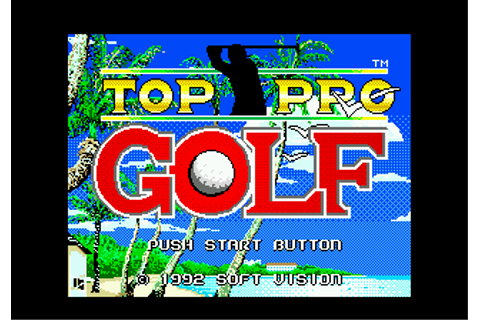 Top Pro Golf 2 - Sega Genesis (Mega Drive) Game
