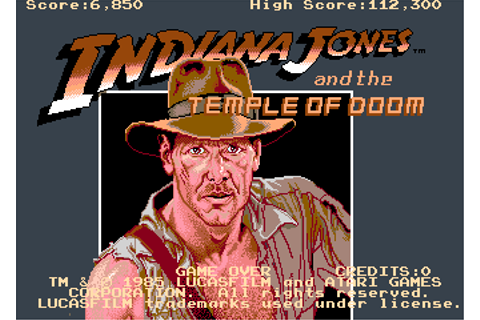 Indiana Jones And The Temple Of Doom - Videogame by Atari ...