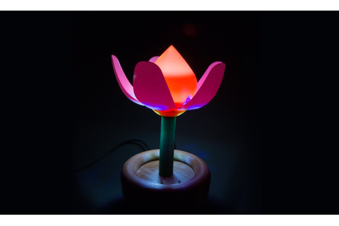 3D Print This Blooming Flower Night Light | Make: