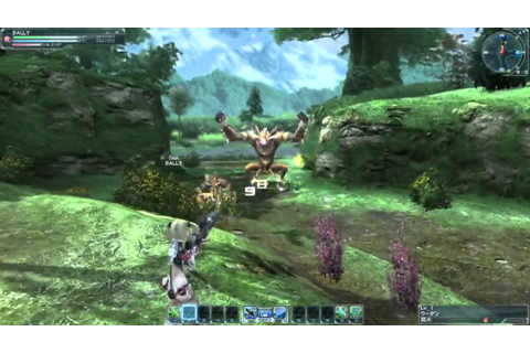 Phantasy Star Online 2 - Forest Gameplay - YouTube