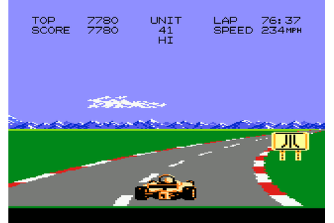 Pole Position II (1987) by Namco Atari 7800 game