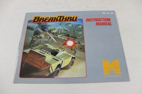 Manual - Breakthru / Break Thru - Nes Nintendo