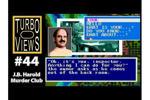 """J. B. Harold: Murder Club"" - Turbo Views #44 (TurboGrafx ..."