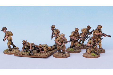 2nd (Australian) Infantry Section (Perry Miniatures ...