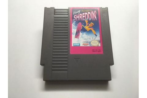 HEAVY SHREDDIN - NES GAME CARTRIDGE ONLY *CLEANED AND ...