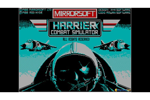 Harrier Combat Simulator gameplay (PC Game, 1988) - YouTube