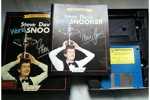 "Video Game Atari St. "" Steve Davis World Snooker "" Vintage ..."