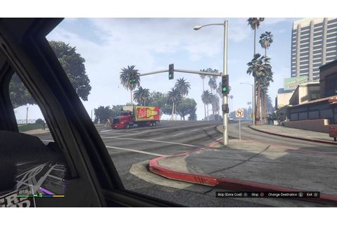 GTA 5 PS4 Taxi Ride - YouTube
