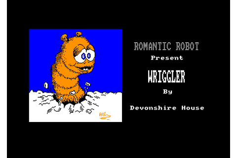 Wriggler by Blaby computer games on Amstrad CPC (1986)