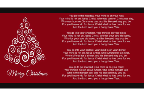 Merry Merry Merry Christmas Lyrics - Christmas Cards