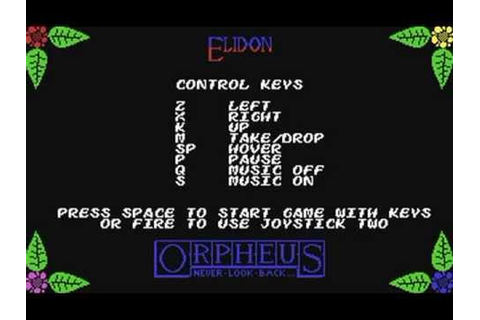 Commodore 64: Elidon game ending by Orpheus - YouTube