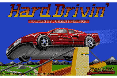 Hard Drivin' (1989) by Domark / Tengen Atari ST game