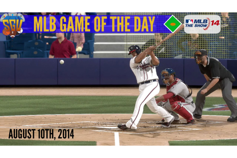 MLB 14: The Show - Game of The Day - Nationals vs Braves ...