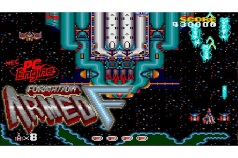 PC Engine フォーメーション アームド F / Armed Formation - Full Game ...