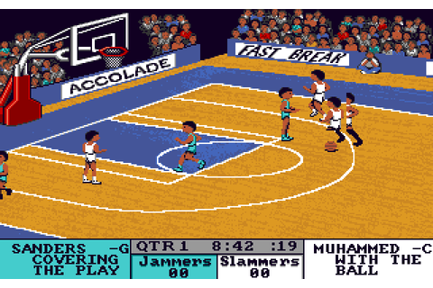 Fast Break (1989) by Accolade Apple IIGS game