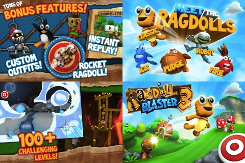 Ragdoll Blaster 3 iPhone game app review | AppSafari